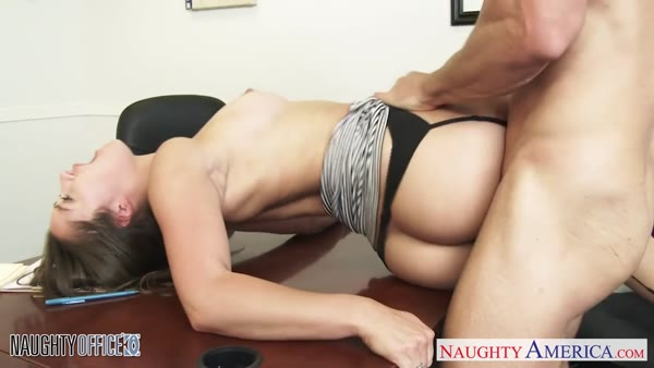 Doggy style sex video of Dani Daniels at work
