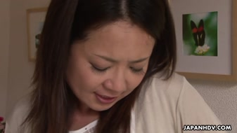 Asian MILF fondled before fucking