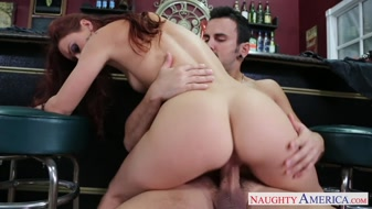 Redhead Karlie Montana banged her cunt with big cock