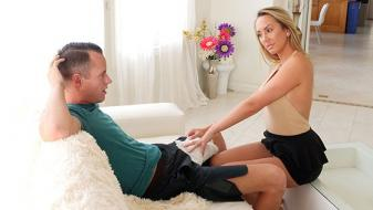 SpyFam – Brett Rossi – Horny Stepmom Massages Stepsons Huge Cock