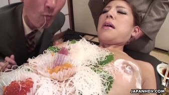 Amazing porn dish sushi JAV free HD with dildo