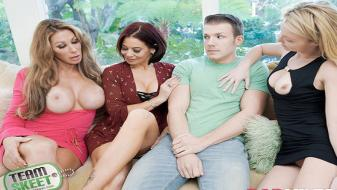 BadMilfs – Farrah Dahl, Ryder Skye, Laura Bentley – The More Badmilfs The Better