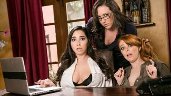 GirlsWay – Penny Pax, Karlee Grey, Sinn Sage – Lady Boss Caught At The Office