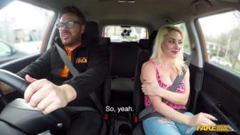 Fakedrivingschool - Instructor seduced by busty blonde