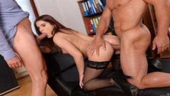 21Sextury - DPFanatics - Evelina Gets a Double