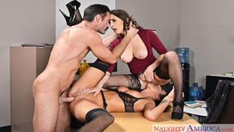 Naughtyamerica - Naughty Office - Ashley Adams, August Ames, Charles Dera