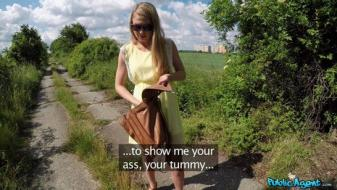 Fakehub - Publicagent - Russian Goldilocks Creampied Outdoors