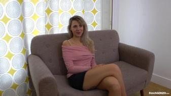 Frenchgonzo - 1st time anal casting couch of a female fan, julia, stunning...