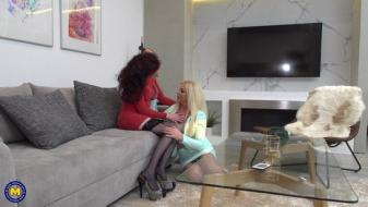 Maturenl - Lesbian housewives Scarlet and Krista love fooling around