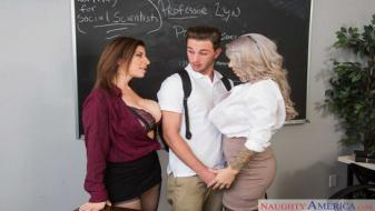 Naughtyamerica - My First Sex Teacher - Alyssa Lynn, Sara Jay, Lucas Frost