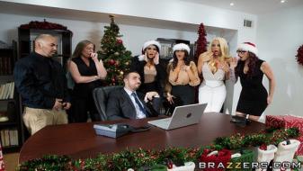Brazzers - Office 4-Play Christmas Bonuses