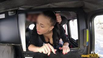 Fakehub - Faketaxi - Big Natural Bouncing Tits Brunette