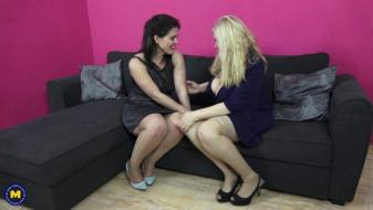 Maturenl - Spanish housewives Montse Swinger and Musa Libertina having a...