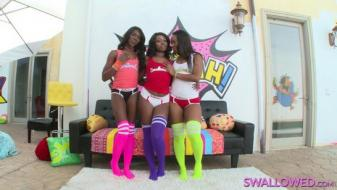 Swallowed - Ana, Chanell And Skyler Let The Spew And Spittle Fly