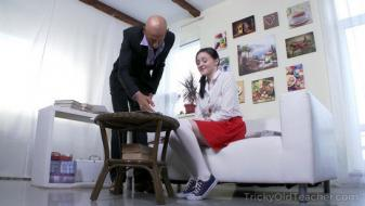 Trickyoldteacher - Tricky English teacher gives sweetie special lesson