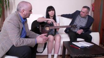 Trickyoldteacher - Two old music teachers punish their lazy student with...